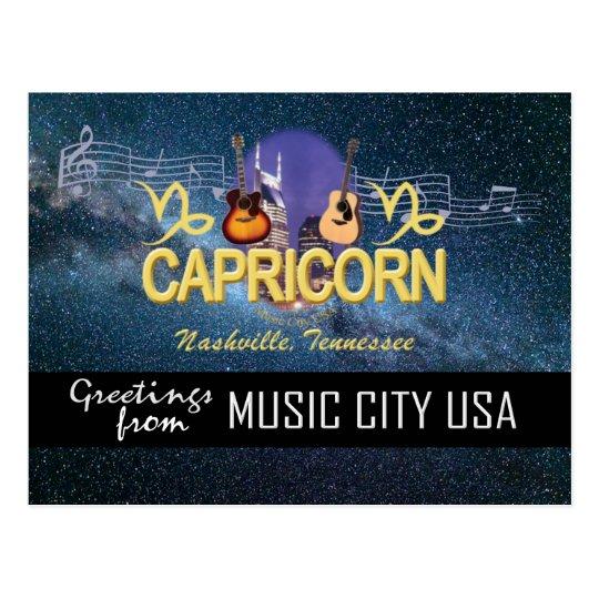 Nashville Zodiac Capricorn Postcard