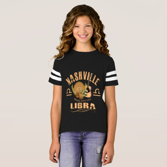Nashville Zodiac Libra Girl's Football Shirt