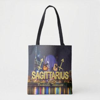 Nashville Zodiac Sagittarius All Over Print Tote