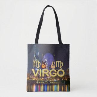 Nashville Zodiac Virgo All Over Print Tote Bag