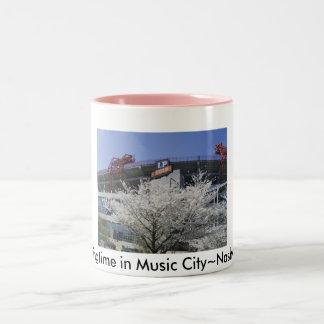 NashvilleFanFare 001, Springtime in Music City~... Two-Tone Coffee Mug