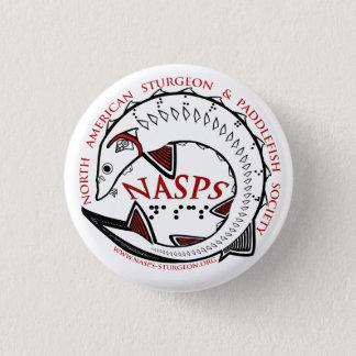 NASPS Logo Button-White 1 Inch Round Button