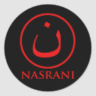 Nasrani  Christian Symbol Classic Round Sticker
