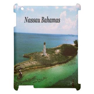 Nassau Bahamas, lighthouse  in harbor iPad Cover