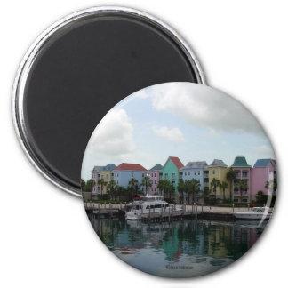 Nassau Bahamas marina 2 Inch Round Magnet