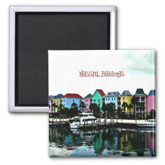 Nassau, Bahamas photograph Square Magnet