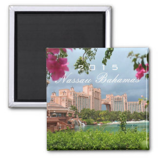 Nassau Bahamas Souvenir Fridge Magnet Change Year
