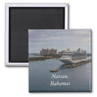 Nassau, Bahamas Square Magnet