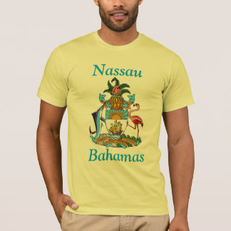 Nassau, Bahamas with Coat of Arms T-Shirt