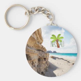 Nassau Beach Keychain