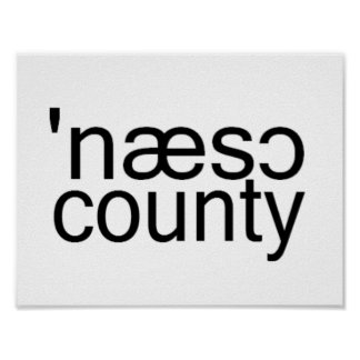 Nassau County Long Island Phonetic Spelling Poster
