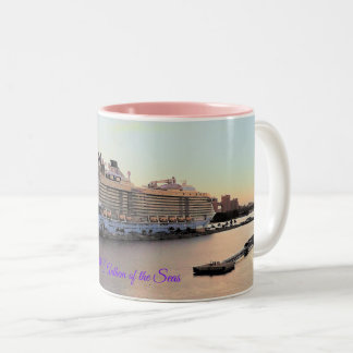 Nassau Daybreak and Cruise Ship Custom Two-Tone Coffee Mug