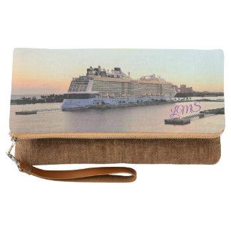 Nassau Daybreak with Cruise Ship Monogrammed Clutch