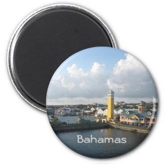 Nassau harbor 2 inch round magnet