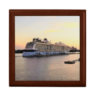 Nassau Harbor Daybreak and Cruise Ship Gift Box