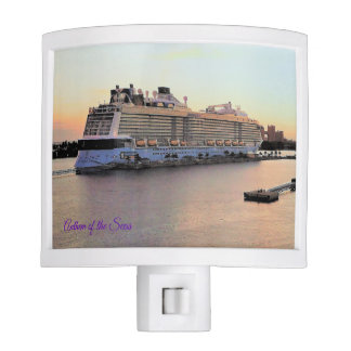 Nassau Harbor Daybreak and Cruise Ship Night Lite
