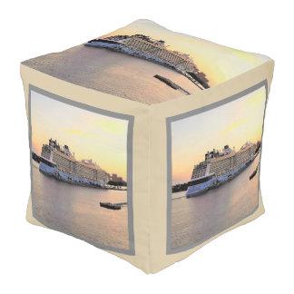Nassau Harbor Daybreak and Cruise Ship Pouf