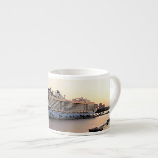 Nassau Harbor Daybreak with Cruise Ship Espresso Cup