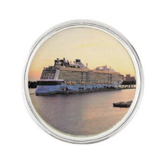 Nassau Harbor Daybreak with Cruise Ship Lapel Pin