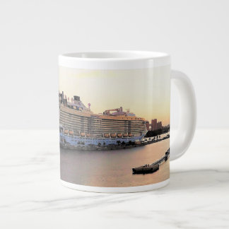 Nassau Harbor Daybreak with Cruise Ship Large Coffee Mug