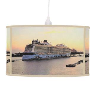 Nassau Harbor Daybreak with Cruise Ship Pendant Lamp