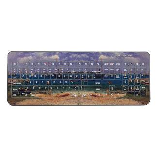 Nassau Harbor Ocean Boats Island Wireless Keyboard