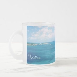 Nassau Harbor Personalized Frosted Mug