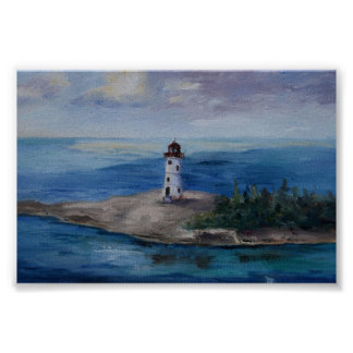 Nassau Harbour Lighthouse Poster