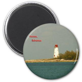 Nassau Lighthouse 2 Inch Round Magnet