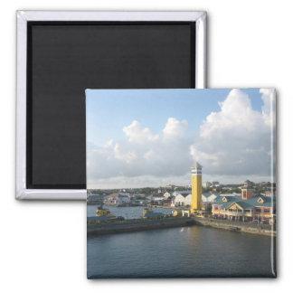 Nassau port square magnet