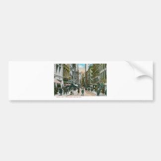 Nassau Street Looking North, New York City Bumper Sticker