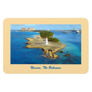 Nassau's Paradise Island Light Rectangular Photo Magnet
