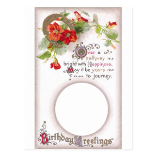 Nasturtium Birthday Card Frame Postcard