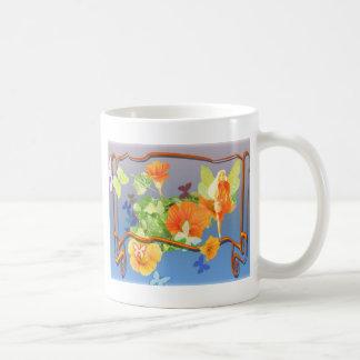 nasturtium-faery coffee mug
