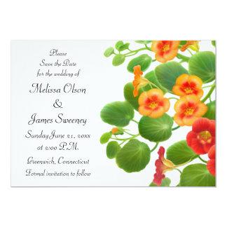 Nasturtium Floral Garden Save the Date Card
