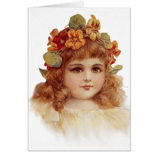 Nasturtium Wreath Card