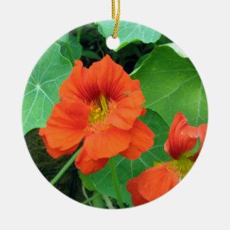 Nasturtiums Ceramic Ornament
