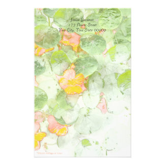 Nasturtiums Light Custom Stationery