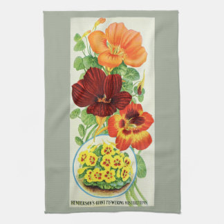 Nasturtiums of 1906 kitchen towel