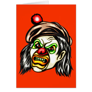 Nasty Evil Clown Greeting Cards