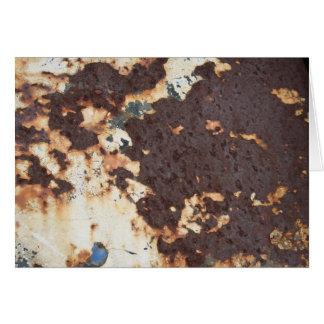 Nasty Metal Rust Greeting Card