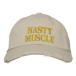 Nasty Muscle Distressed Cap Embroidered Baseball Caps
