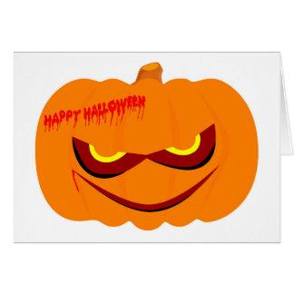 Nasty Pumpkin Greeting Card