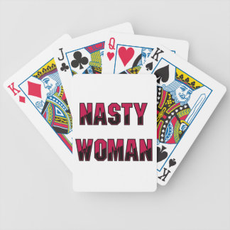 Nasty Woman Bicycle Playing Cards