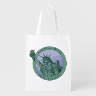 Nasty Woman First Lady Statue Of Liberty Reusable Grocery Bag