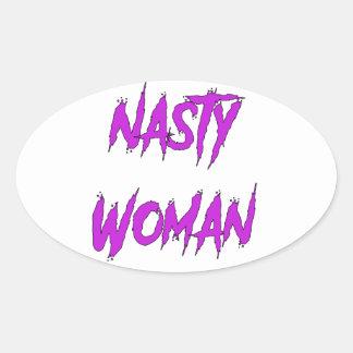 Nasty Woman Oval Sticker