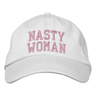 Nasty Woman Pink Lettering Custom Baseball Cap