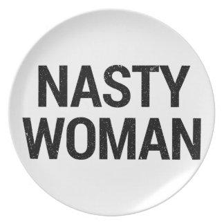 Nasty Woman Plate
