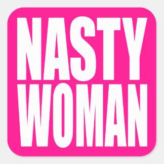 """NASTY WOMAN"" SQUARE STICKER"