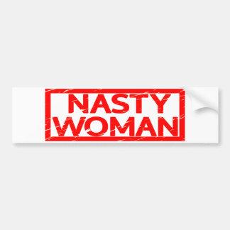 Nasty Woman Stamp Bumper Sticker